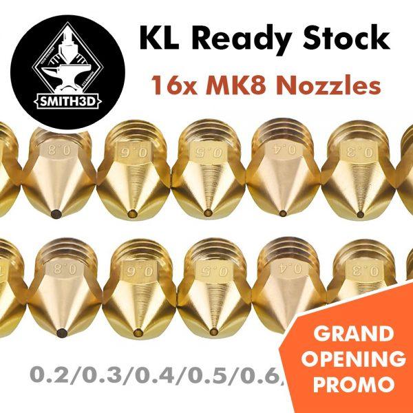 16 Pieces MK8 Nozzle Pack