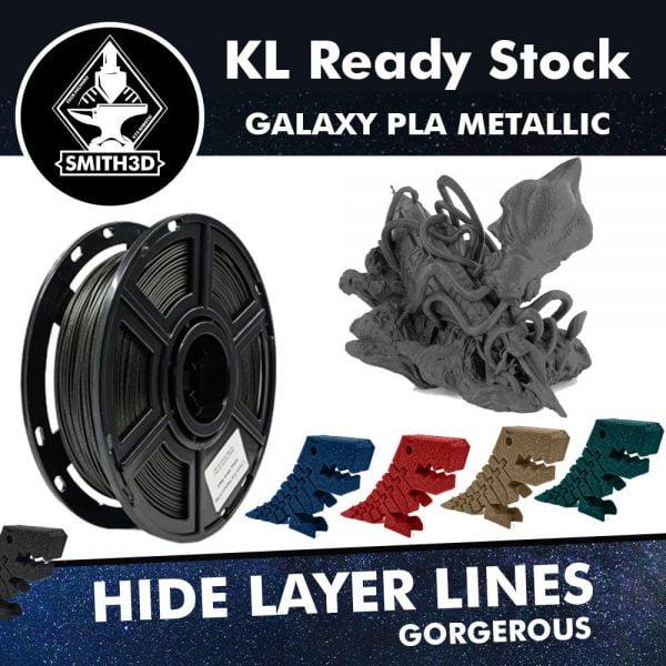 Smith3D PLA Galaxy Black and Blue Filament