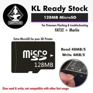 128MB MicroSD Card for Flash Firmware Backup 3D Printer